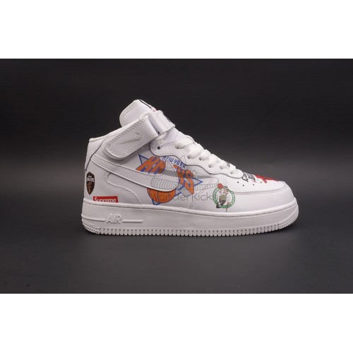 Nike Air Force 1 Mid Supreme NBA White