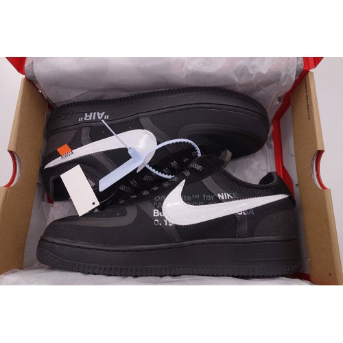 Air Force 1 Low Off White In Black (2nd Update)