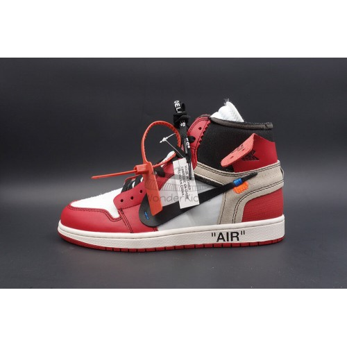 12c6df537a3 Buy Best Quality UA Air Jordan 1 High OG Off White Virgil Chicago ...