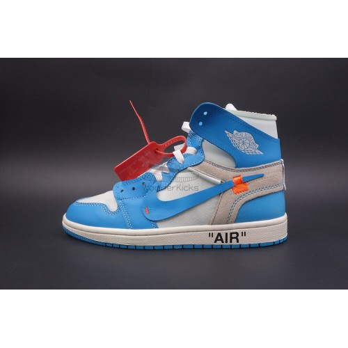 daf7bdc5db82 Buy Best Quality UA Air Jordan 1 High OG Off White UNC University ...