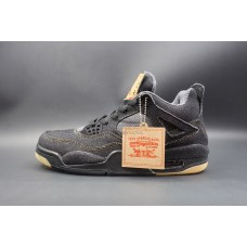 Air Jordan 4 Retro Levi's Black