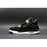 "Air Jordan 4 Retro ""Royalty"" Black Metallic Gold"