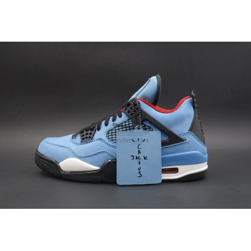 factory authentic fe6a7 bf563 Air Jordan 4 Retro Travis Scott Cactus Jack Blue