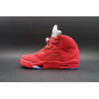 "Air Jordan 5 Retro ""Red Suede"" Bull Red"