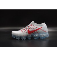 Air Vapormax Flyknit Pure Platinum Red
