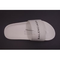BC Pool Sandal With Logo White