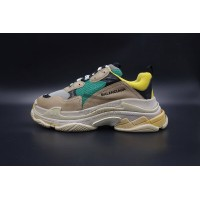 Balenciaga Triple S Trainer Beige Green Yellow (New Updated)