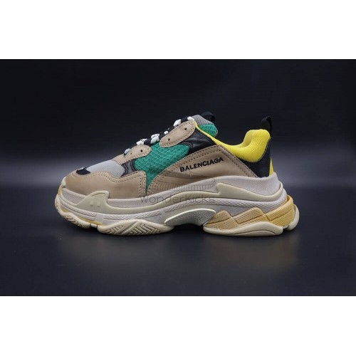BC Triple S Trainer Beige Green Yellow (New Updated)