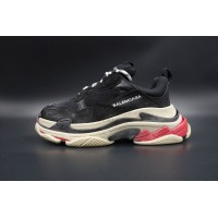 Balenciaga Triple S Trainer Black White Red (New Updated)