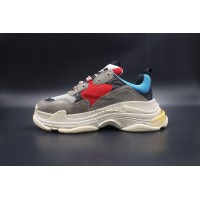 Balenciaga Triple S Trainer Grey Red Blue (New Updated)