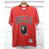 BAPE x Mitchell & Ness Bulls Tee Red