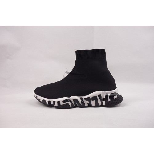 BC Speed Trainer Graffiti Trainers Black White