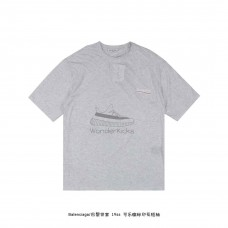 BC Logo Printed T shirt Grey