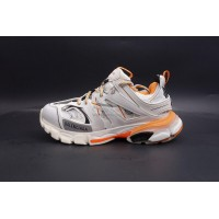 BC Track Sneaker White Orange