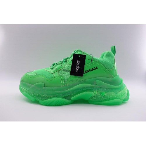 8e42173a437d5 Buy Best Quality UA BC Triple S Clear Sole Trainer Neon Green Online ...