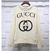 GC Interlocking G Hooded Sweatshirt White