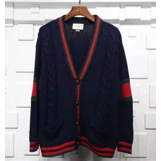 GC Oversize Cable Knit Cardigan Blue