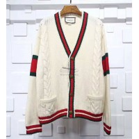 GC Oversize Cable Knit Cardigan White