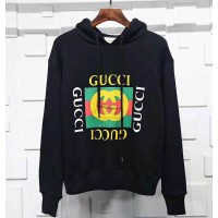 GC Logo Oversize Hooded Sweatshirt Black