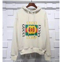 GC Logo Oversize Hooded Sweatshirt White