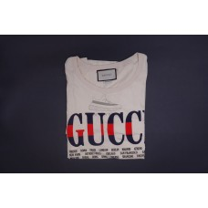 GC Cities Print Cotton Tee White Red