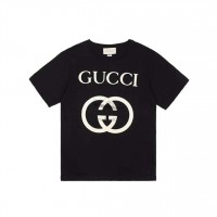GC Interlocking G T Shirt Black