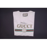 GC Washed T-shirt With Logo Print White