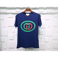 GC Oversize Interlocking G T Shirt Blue