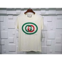GC Oversize Interlocking G T Shirt White