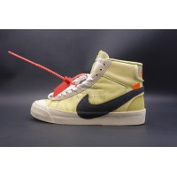 Nike Blazer Mid Off White Canvas Yellow