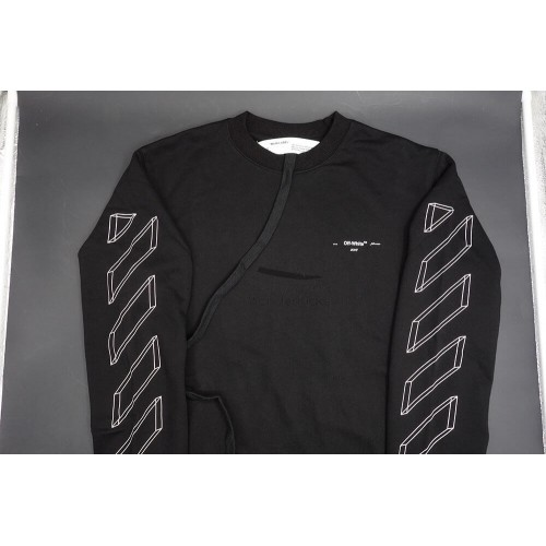 Off White 3D Line Sweatshirt Black