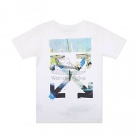 Off White Multicolor Arrows T shirt White