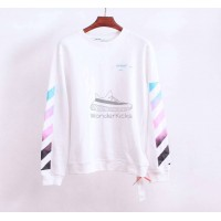 Off White Diag Gradient Sweatshirt White