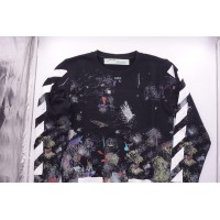 Off White Diagonal Galaxy Brushed Sweatshirt