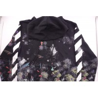 Off White Diagonal Galaxy Brushed Zip Hoodie