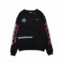 Off White Diag Stencil Sweatshirt Black