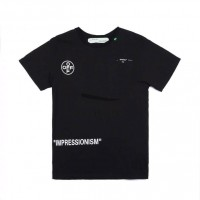 Off White Stencil T shirt Black