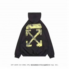Off White Acrylic Arrows Hoodie Black