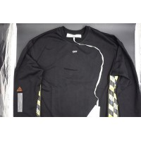 Off White Oversize Fireline Sweatshirt Black