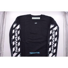 Off White Temperature Sweatshirt Black