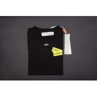 Off White Firetape Black Cotton Tee