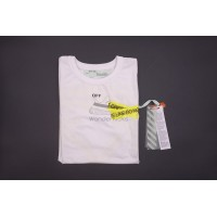 Off White Firetape White Cotton Tee