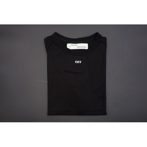 Off White Temperature Black Cotton Tee