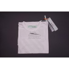 Off White Diag Temperature White Cotton Tee