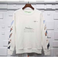 Off White White Diag Arrows Sweatshirt