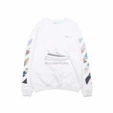 Off White Diag Arrows Sweatshirt White