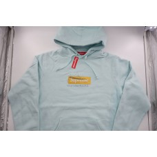Supreme Box Logo FW17 Hooded Sweatshirt Ice Blue