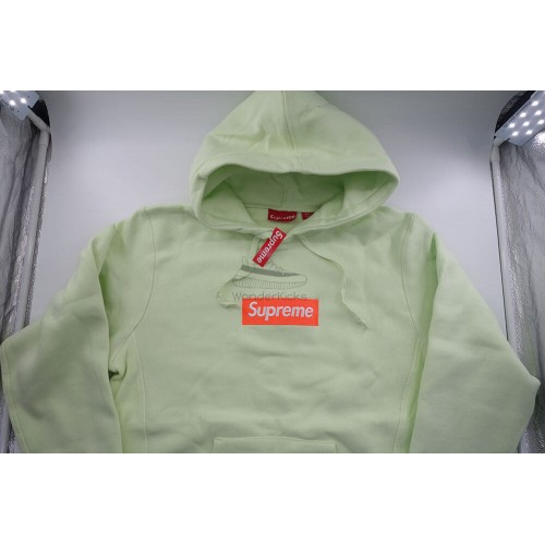 Supreme Box Logo FW17 Hooded Sweatshirt Pale Lime