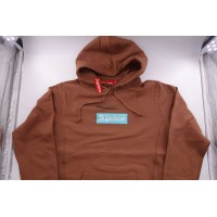 Supreme Box Logo FW17 Hooded Sweatshirt Rust