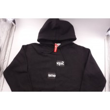 Supreme Split Box Logo Hooded Sweatshirt Black